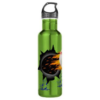 Fiery Baseball Water Bottles