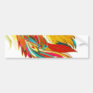 Fiery Beautiful Feathers Bumper Sticker