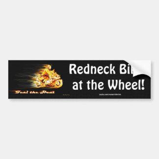 Fiery Biker Motorcycle Fantasy Art Car Bumper Sticker