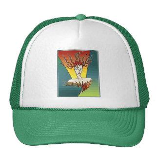 Fiery Bird Woman Mesh Hat