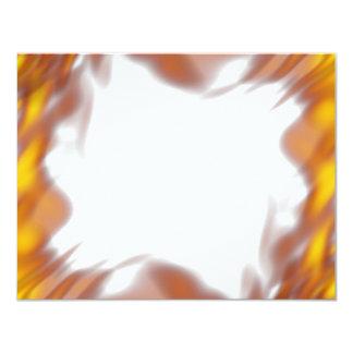 Fiery Burning Flames Border 11 Cm X 14 Cm Invitation Card