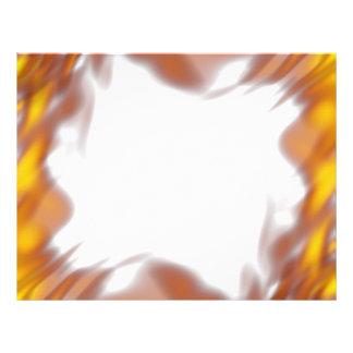 Fiery Burning Flames Border 21.5 Cm X 28 Cm Flyer