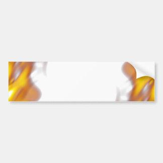 Fiery Burning Flames Border Bumper Sticker