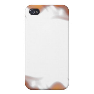 Fiery Burning Flames Border iPhone 4 Cases