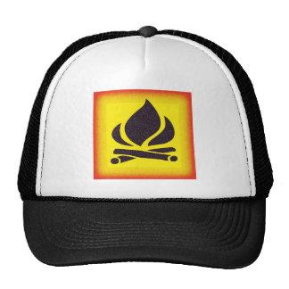 Fiery Campfire Trucker Hat