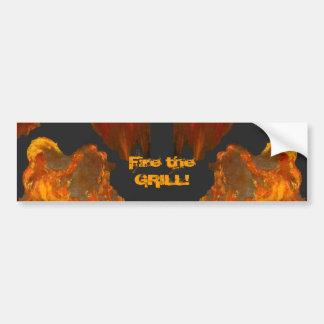 Fiery Court Jester Bumper Sticker