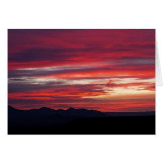 Fiery Daybreak Greeting Card