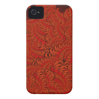Fiery Depths Abstract Fractal Pattern in Reds Case