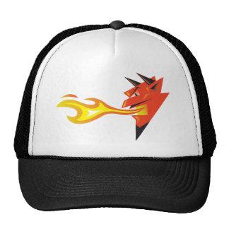 Fiery Devil s Head Trucker Hats