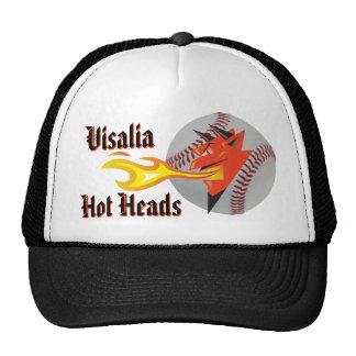 Fiery Devil's Head Sports Themed Team Name&Mascot Cap