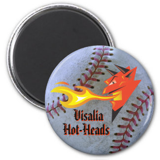 Fiery Devil's Head_Sports Themed Team Name&Mascot 6 Cm Round Magnet