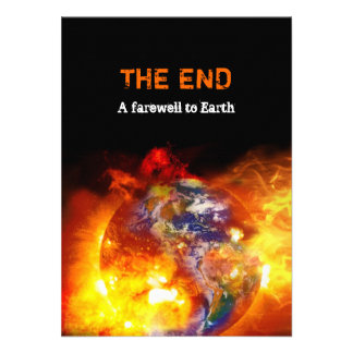 Fiery End of the World Apocalypse Party Invites