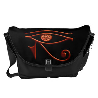 Fiery Eye Of Horus Large Messenger Bag