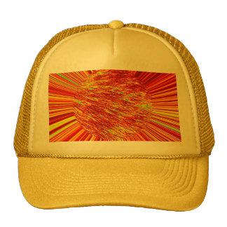 Fiery Fur Ball Mesh Hats