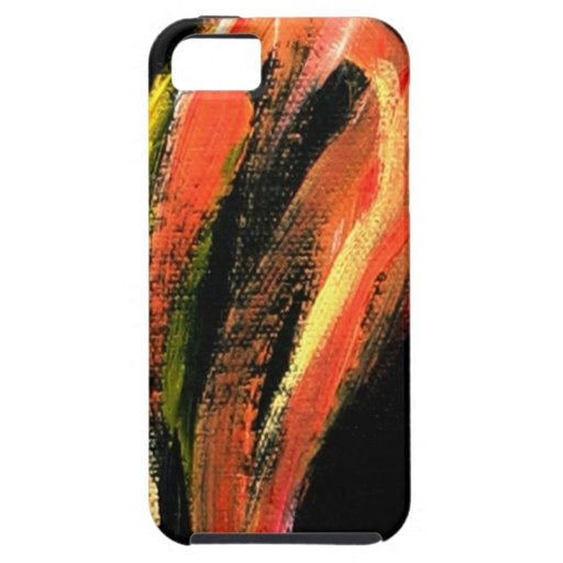 Fiery Girl closup iPhone 5 Cases