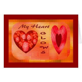 Fiery Hearts Glow Greeting Card