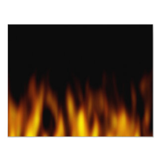 Fiery Hot Flames Backdrop 11 Cm X 14 Cm Invitation Card