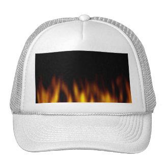 Fiery Hot Flames Backdrop Trucker Hat