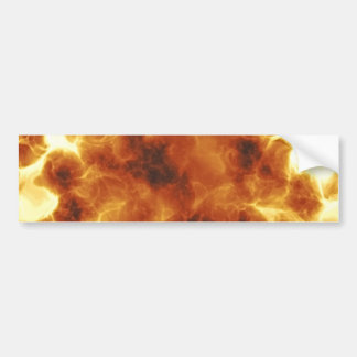 Fiery Inferno Explosion Textured Car Bumper Sticker