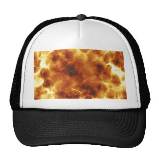 Fiery Inferno Explosion Textured Hats