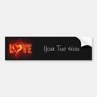 Fiery Love Bumper Sticker