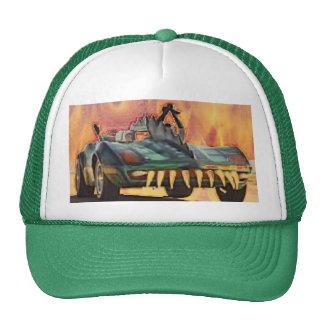 Fiery Monsta Car Baseball Trucker Hat