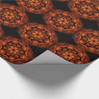 Fiery mushroom kaleidoscope tiled paper