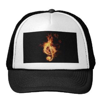fiery-music cap