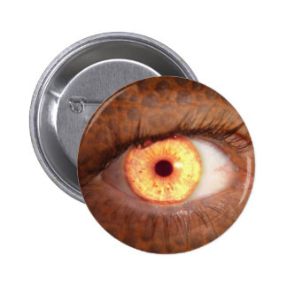 Fiery Mutant Eye Mouse Pad 6 Cm Round Badge