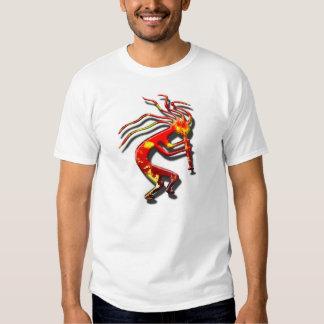 Fiery native American Kokopelli flute player t shi T-shirts