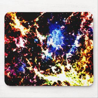 Fiery Nebula Mouse Pad