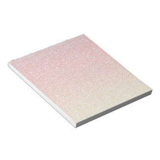Fiery Ombre with Glitter Effect Notepad