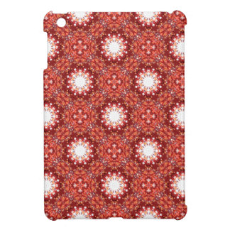Fiery Orange Red Autumnal Floral Fractal iPad Mini Covers