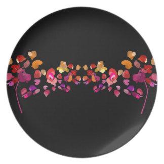 Fiery Petals Pattern Plate