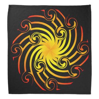 Fiery Pinwheel Bandana