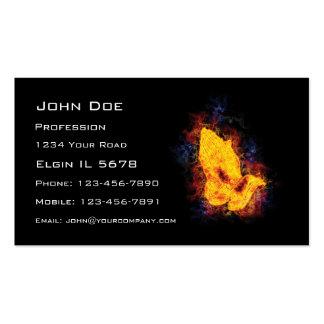 Fiery Praying Hands Business Card Template