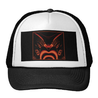 Fiery Red and Black Fractal. Cap