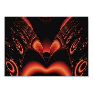 Fiery Red and Black Fractal. Card