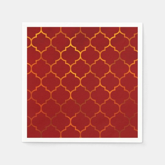 Fiery Red Gold Royal Indian Arabian Theme Moroccan