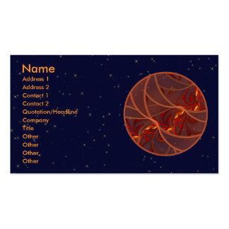 Fiery Red Moon Pack Of Standard Business Cards