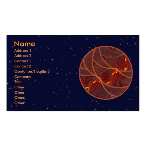 Fiery Red Moon Business Card Template