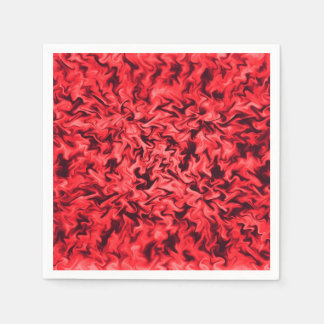 Fiery Red Paper Serviettes
