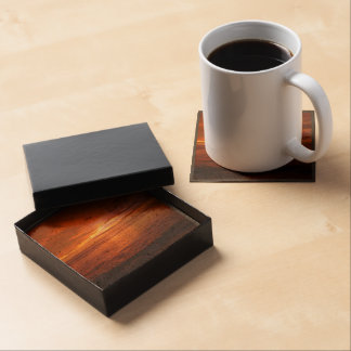 Fiery red sky at sunset drink coasters