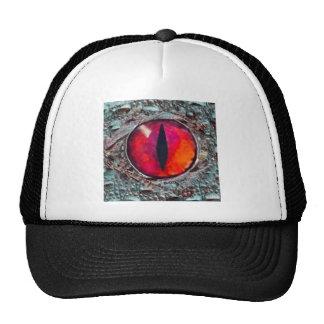 Fiery Reddish-Orange Demon s eye Gifts Mesh Hat