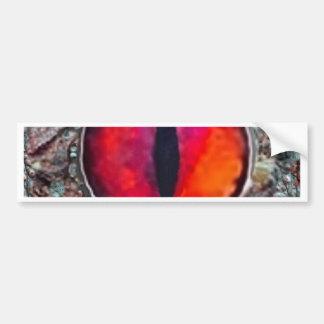 Fiery Reddish-Orange Demon's eye Gifts Bumper Stickers