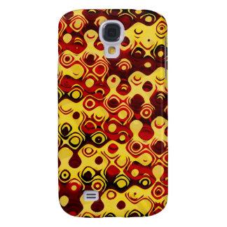 Fiery Retro Abstract Galaxy S4 Case
