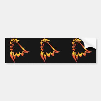 Fiery Rooster Bumper Sticker