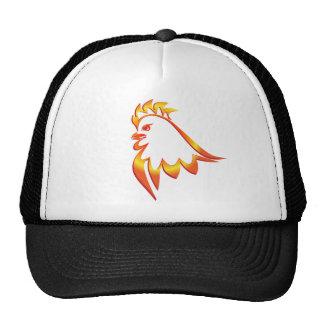 Fiery Rooster Cap
