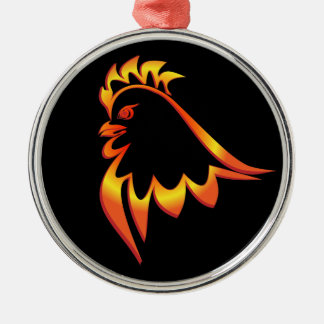 Fiery Rooster Christmas Ornament