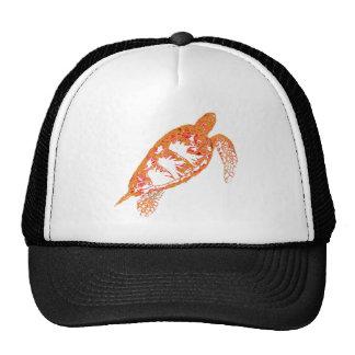 Fiery Sea Turtle in Altered Colors Trucker Hat